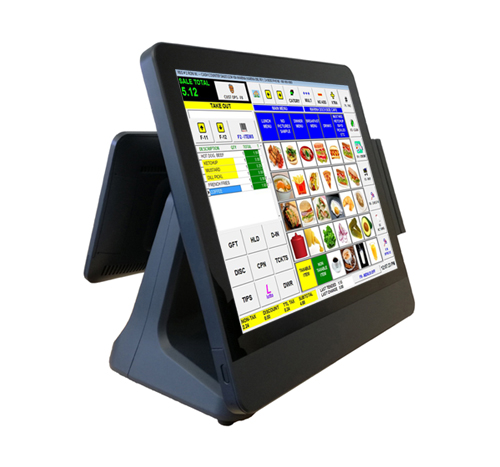 "EUROTOUCH EA-715 + MSR123+LCD 9,7"" - Touch 15"", J1900 QC, 2,0GHz Fanless,2GB RAM,64GB SSD"